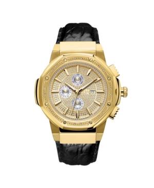 Men's 10 Yr Anniversary Saxon Diamond (1/6 ct.t.w.) & 18K Gold Plated Watch