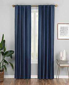 "Vaughan 42"" x 84"" Textured Stripe Curtain Panel"