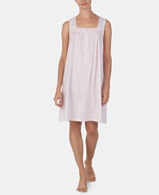 Eileen West Lace-Trim Cotton Knit Nightgown
