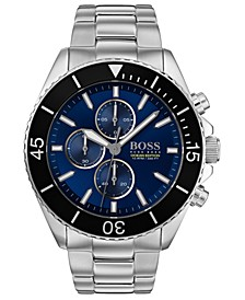 Men's Chronograph Ocean Edition Stainless Steel Bracelet Watch 46mm