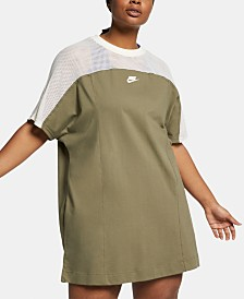 Nike Plus Size Sportswear Cotton Mesh Dress