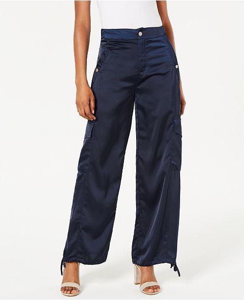 Kendall + Kylie Satin Cargo Pants