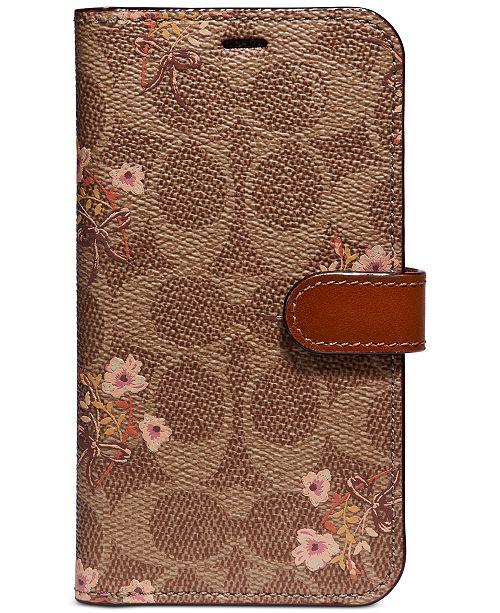 COACH Signature Floral Prairie iPhone X Folio