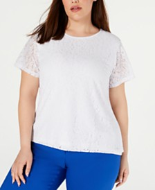 Calvin Klein Plus Size Lace Top