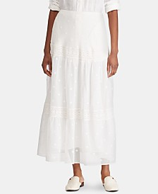 Lauren Ralph Lauren Tiered Peasant Skirt, Created for Macy's