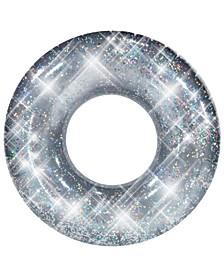 """Pool Candy Glitter Pool Tube 48"""" - Silver Glitter"""