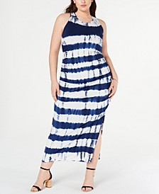 Trendy Plus Size Tie-Dyed Maxi Dress