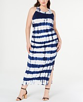 69a2a0fa0fa Jessica Simpson Trendy Plus Size Tie-Dyed Maxi Dress