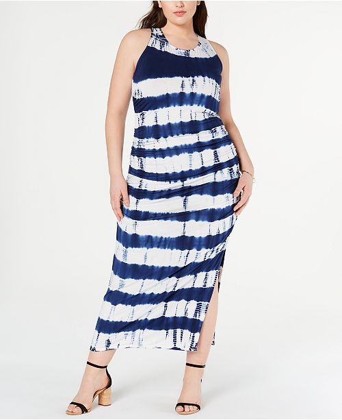 Jessica Simpson Trendy Plus Size Tie-Dyed Maxi Dress