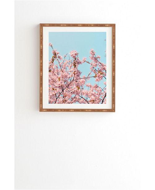 Deny Designs Pink Blossoms Blue Sky Framed Wall Art