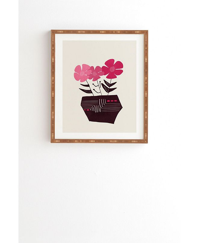 Deny Designs Floral Vibes III Framed Wall Art