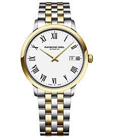 Men's Swiss Toccata Two-Tone Stainless Steel Bracelet Watch 39mm