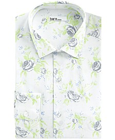Men's Slim-Fit Stretch Rose Grid Dress Shirt, Created For Macy's