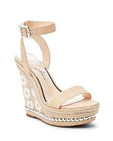 Alinda Woven Platform Wedge Sandals