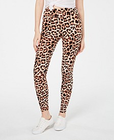 Juniors' Animal-Printed Brushed Jersey Leggings