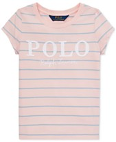 3961496a Polo Ralph Lauren Little Girls Striped Cotton Jersey Logo T-Shirt