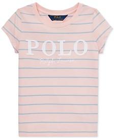 Polo Ralph Lauren Little Girls Striped Cotton Jersey Logo T-Shirt