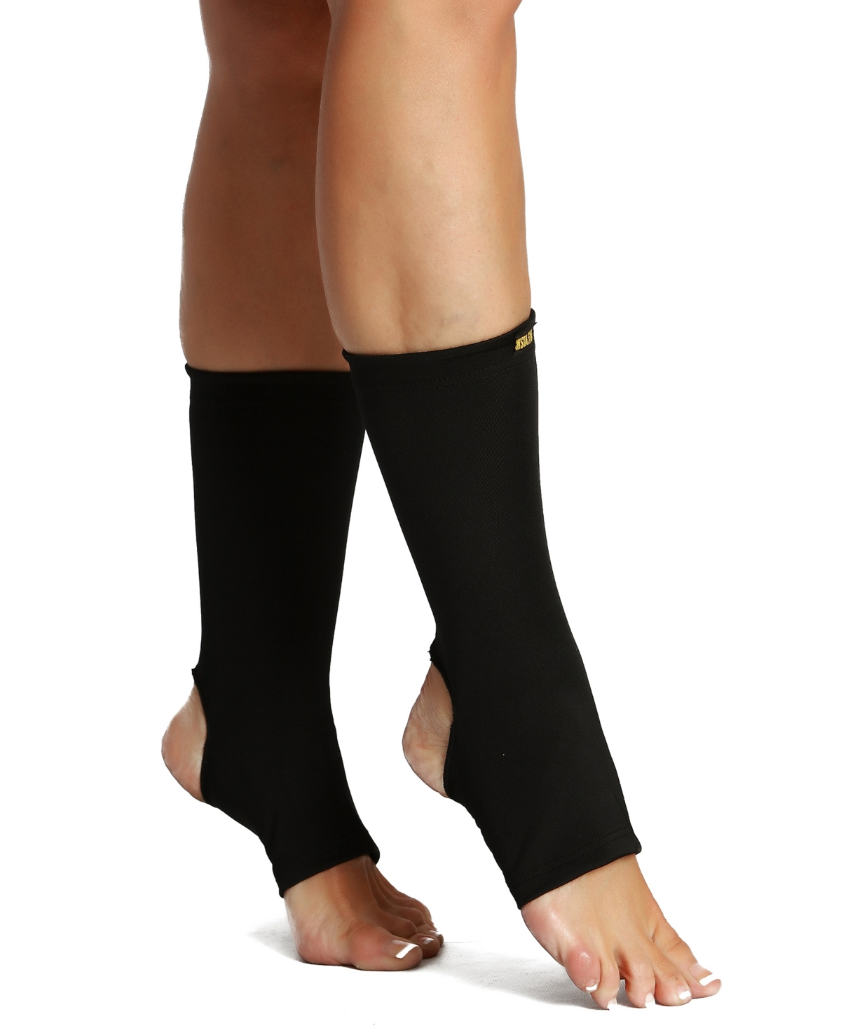 InstantFigure Powerful Compression Ankle Sleeves with Exposed Heel and Toes
