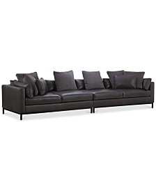 Plassey 2-Pc. Leather Sectional Sofa