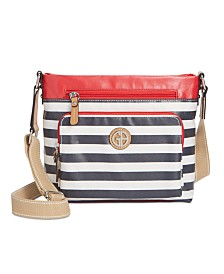Giani Bernini Canvas Stripe Crossbody, Created for Macy's