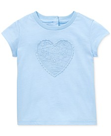 Polo Ralph Lauren Baby Girls Eyelet-Patch Cotton T-Shirt