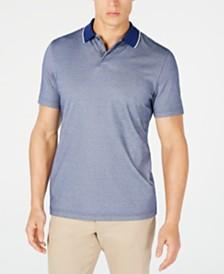 Tasso Elba Men's Dot-Print Supima® Cotton Polo, Created for Macy's