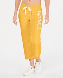 Calvin Klein Performance Logo Cropped Sweatpants