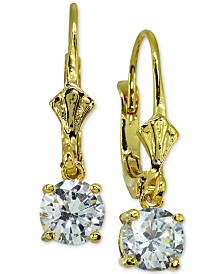 Giani Bernini Cubic Zirconia Drop Earrings in 18k Gold-Plated Sterling Silver, Created for Macy's