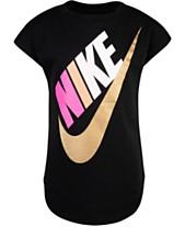 05e5af6b077 Nike Toddler Girls Metallic Futura Logo Cotton T-Shirt