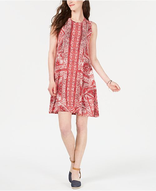 030cea4b20240 Style & Co Petite Printed Swing Dress, Created for Macy's & Reviews ...