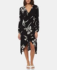 Juniors' Talina Asymmetrical Midi Dress