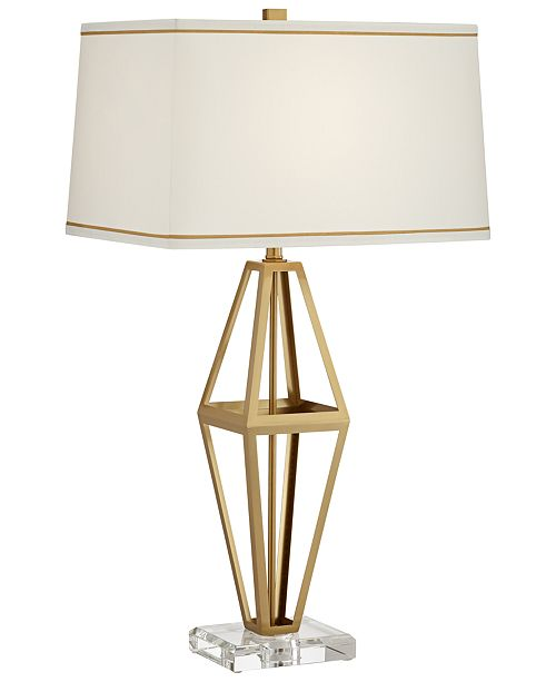 Pacific Coast Triangular Metal Table Lamp