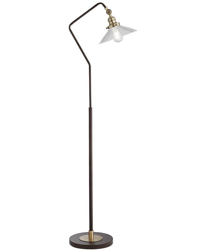 Pacific Coast Industrial Bronze and Brass Floor Lamp