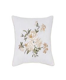 """Nostalgia Home Juliette 16"""" Square Embroidered Decorative Pillow"""