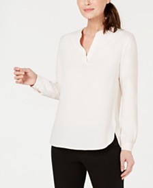 Anne Klein Split-Neck Blouse