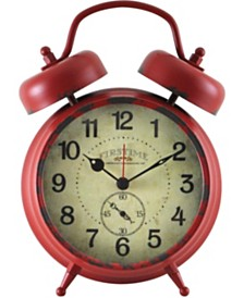 """Firstime and Co. 7"""" Red Double Bell Alarm Clock"""