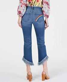 I.N.C. Rainbow Fringe Cropped Skinny Jeans, Created for Macy's