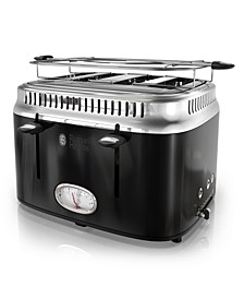 Retro Style 4-Slice Toaster