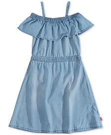 Levi's® Little Girls Ruffle-Trim Denim Dress