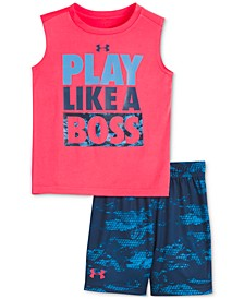 Little Boys 2-Pc. Like a Boss Tank Top & Shorts Set
