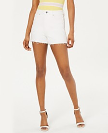 GUESS Claudia Side-Zipper Cutoff Shorts