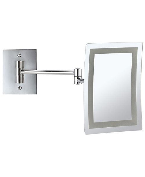 Nameeks Glimmer Wall-Mounted Square LED 3x Makeup Mirror