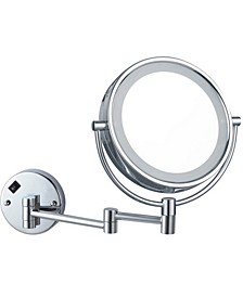 Glimmer Double Face Round LED 5x Makeup Mirror