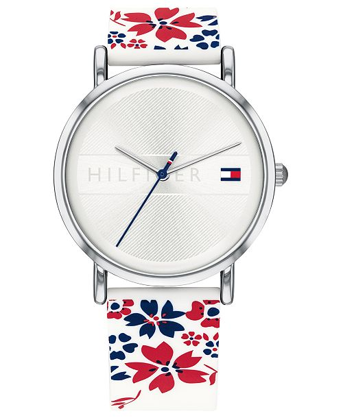 Tommy Hilfiger Women's Silicone Strap Watch 35mm, Created for Macy's