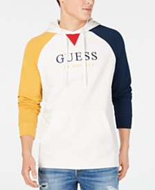 GUESS Men's Go Colorblocked Embroidered Logo Hoodie