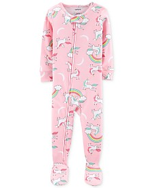 Carter's Toddler Girls Cotton Unicorn Pajamas
