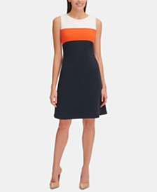 Tommy Hilfiger Piqué Colorblocked Dress