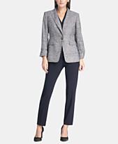 108a36798f26 DKNY Marled Cuffed-Sleeve Jacket