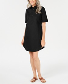 Karen Scott Cotton Pullover Shirtdress, Created for Macy's