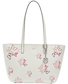 DKNY Bryant Leather Butterfly Tote, Created for Macy's